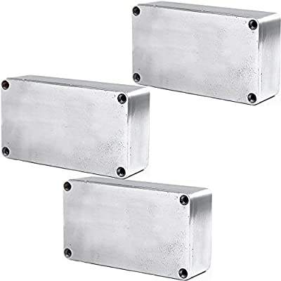 1705b5eac9 Amazon.com: ESUPPORT 1590B 115x65x35mm Aluminum Metal Stomp Box Case  Enclosure Guitar Effect Pedal Pack of 3: Musical Instruments