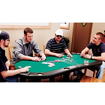 Attractive Fat Cat Trifold Poker Table Bundle   For 10 Players