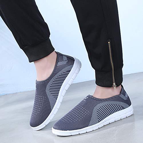 kaifongfu Men's Footwears Shoes Slip-On Sport Shoes Sneaker Comfortable Shoes(Gray,39) by kaifongfu (Image #6)