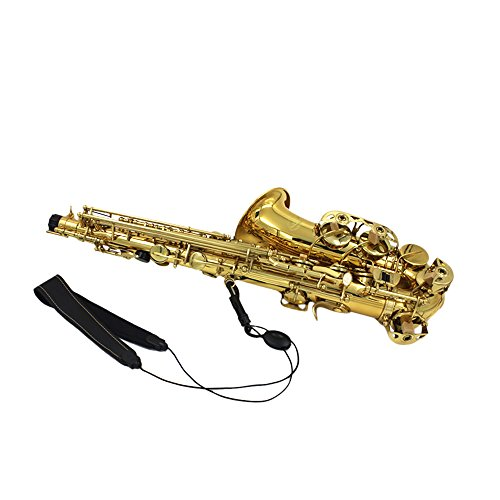 Nynoi Professional Saxophone Sax Neck Strap Adjustable Design Leather Nylon Padded with Hook Clasp Saxophone Accessories