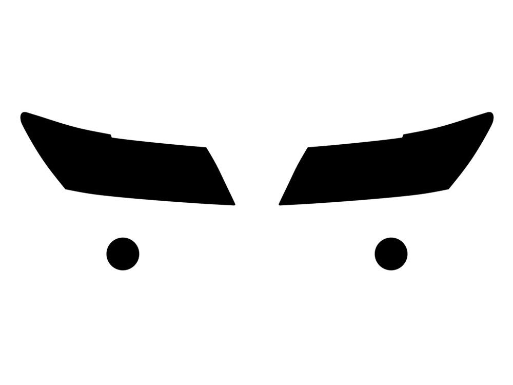 Smoke Rvinyl Rtint Headlight Tint Covers for Dodge Journey 2009-2018