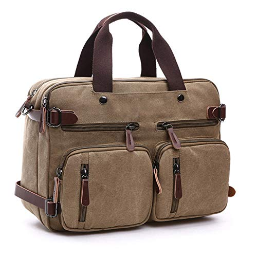 Amazon.com: Canvas Travel Backpack Men Shoulder Bag Mochila Hombre,Khaki,Small: Shoes