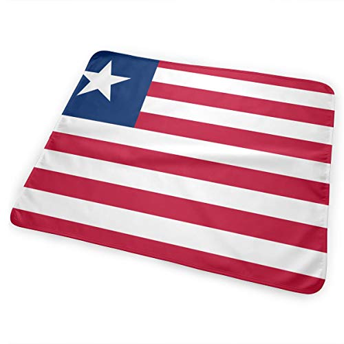 Flag of Liberia Breathable Urine Mat Waterproof Changing Pad for Baby Washable Mattress Pad Sheet Protector ()