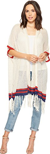 Michael Stars Women's The Final Stripe Ruana chalk One Size - Knit Ruana Pattern