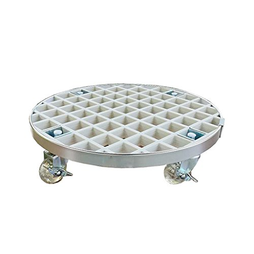 ZHEN GUO Heavy Duty FRP Plant Caddy, Round Plant Stand Dolly with Industrial Grade Caster Wheels & Aluminum Edge, Perfect for Moving Potted Plants (Color : White, Size : 29cm (11.4inch))