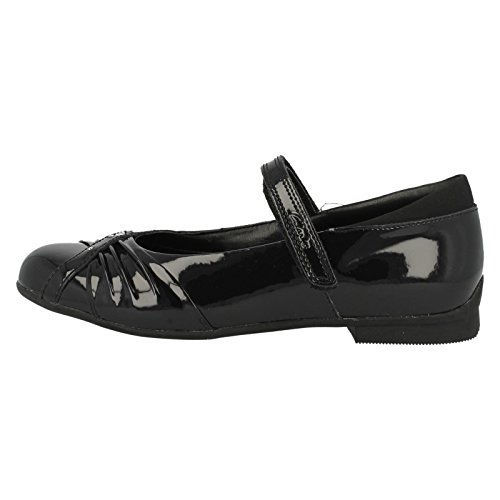 Clarks Girls Dolly Shy School Shoe Infant 8.5 Black Patent