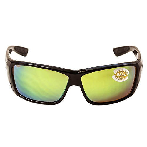 Costa Cat Cay Sunglasses Black Green Mirror