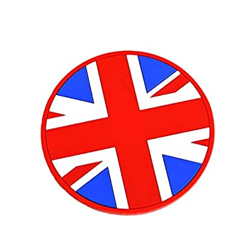 GoBadges CG01-Cup Holder Badge Unionjack 73mm 1 qty