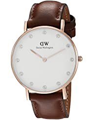 Daniel Wellington Womens 0950DW Classy St. Mawes Watch With Brown Leather Band