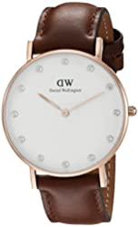 Daniel Wellington Women's 0950DW Classy St. Mawes Watch With Brown Leather Band