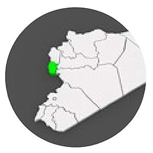 alfombrilla de ratón Mapa de Tartous. Siria. - ronda - 20cm