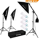 1350W Photography Studio Lighting Kit Arm for Video and Youtube Continuous Lighting
