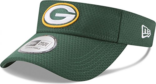New Era Green Bay Packers 2017 On Field Training Camp Adjustable Visor- Green