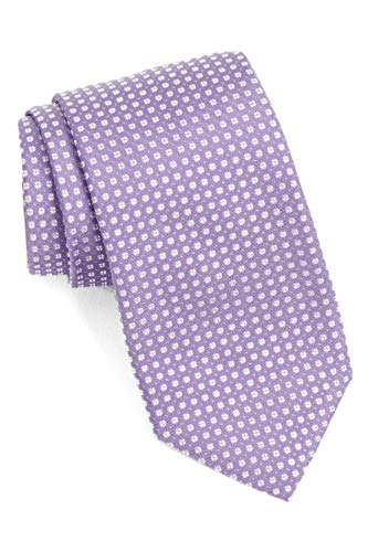 Hugo Boss Textured Slim Woven Italian Silk Tie, Light Purple 50403087