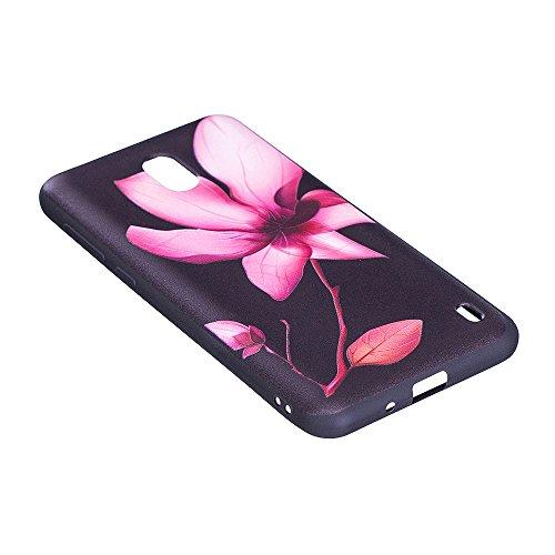 Grandcaser Funda para Nokia 2,Ultra Fina Slim Flexible Duradera Protectora Funda Estuche de Silicona TPU Gel Original Goma Grip Bumper Design Carcasa - Bamboo Panda Loto