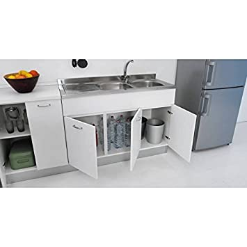 Mueble para fregadero de cocina, de 120 x 50 cm, con doble puerta ...