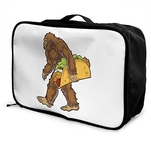 Bigfoot Sasquatch Carrying Taco Lightweight Large Capacity Portable Luggage Bag Fashion Travel Duffel Bag