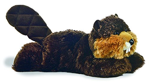Bucky Beaver - Aurora World Plush - Mini Flopsie - BUILDER the Beaver (8 inch)