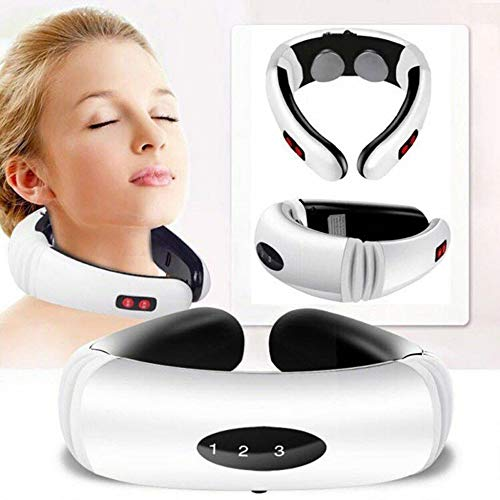 Neck Massager Electric Pulse Back And Neck Massager, Far Infrared Heating Pain Relief Health Care Relaxation Tool Smart