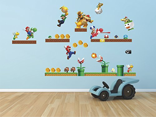 Mario super mario bros Luigi Yoshi bowser 3D Wall Decal Sticker 18
