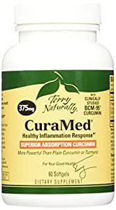 Terry Naturally CuraMed BCM-95 Curcumin -Better than Tumeric 375 mg 60 Softgels