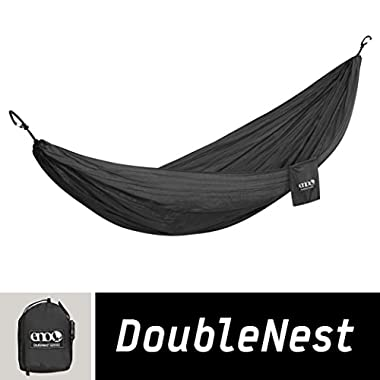 ENO Eagles Nest Outfitters - DoubleNest Hammock, Portable Hammock for Two, Black/Black