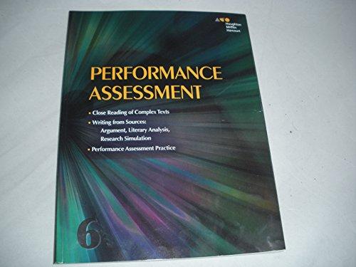 Houghton Mifflin Harcourt: Performance Task Assessment Student Edition Grade 6