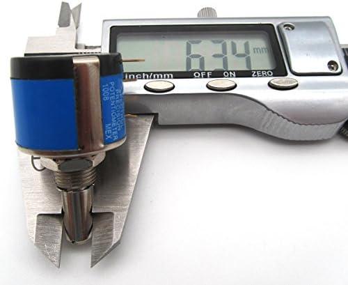 KUNPENG - Potenciómetro de eje # 534-1-1 1K 6.34mm AJUSTE PARA SWF ...