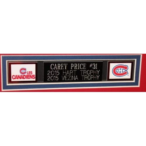 lovely Autographed Carey Price Jersey - Framed Number - Autographed ...