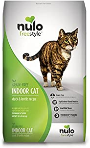 Nulo Grain Free Dry Cat Food - Indoor, Adult Trim, or Hairball Management with BC30 Probiotic, Salmon, Duck or