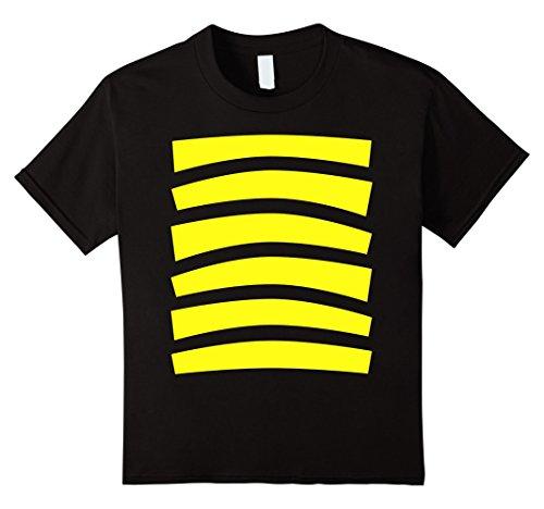 Top 100 Costume Ideas Halloween (Kids Bee Halloween Costume Shirt Top Cute Honeybee Bumblebee 6 Black)