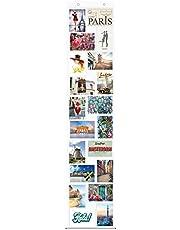 Fotogordijn, 10 x 15 cm, met 20 vakken, staand en liggend formaat, fotowand, fotogalerij, fotovakjes, fotohouder, fotogordijn, foto's