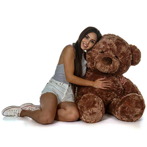 - Giant Teddy Original Bear Brand - Biggest Selection of Life Size Stuffed Teddy Bears (Mocha Brown, 4 Foot)