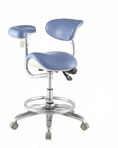 Chair Upholstery Dental (BoNew Deluxe Dental Saddle Chair Medical Stool PU Leather High Density Height Adjustable)