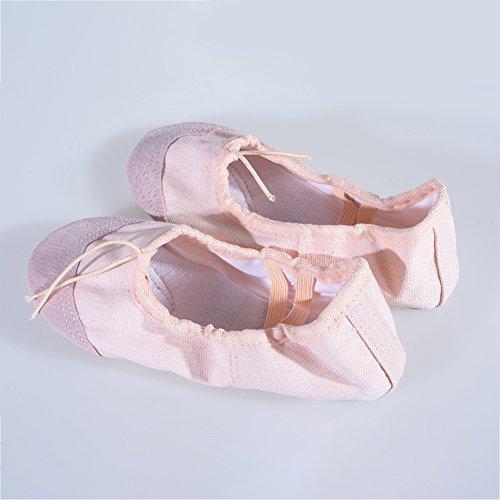 Ballet Slippers Dancing Soft Kids Pointe Shoes Children elegantstunning Beige Girls Shoes Dance Women Breathable 35 Flats Comfortable Yoga dSwBqwP