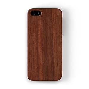 Dark Wood Grain Texture Funda Completa de Alta Calidad con Impresión 3D, Snap-On, Diseño Negro Formato Duro parar Apple® iPhone 5 / 5s de UltraCases