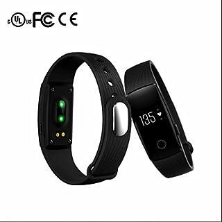 Braccialetto Fitness, Smart Bracelet Con Touchscreen Bluetooth 4.0 Monitoraggio Della Frequenza Cardiaca, Pedometro E Monitoraggio Del Sonno Per Android Ios Telefoni Intelligenti Timefewnow ID107ITart458