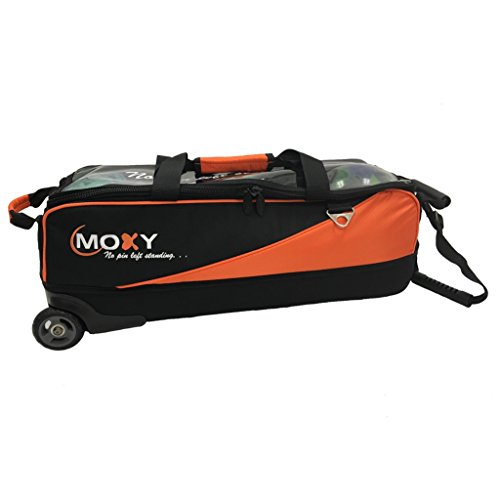 Moxy Slim Triple Roller Bowling Bag- Orange/Black by Moxy Bowling Products