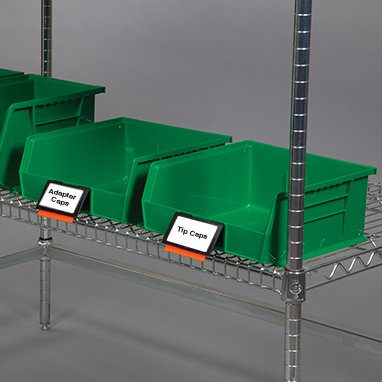 Divine Medical Kanban Extended Label Holders for Super Tough Bins - 6 Per Package (Label Holders Extended)