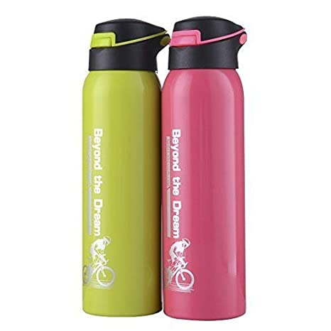 500ml Debian770 Thermo Portable Nice Bicycle Print Stainless Steel Vacuum Flask Hot /& Cold Water
