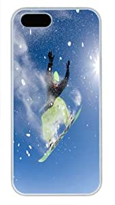 Beautiful Type White Pc For Iphone 5/5S Phone Case Cover - Interesting Skiing - Rise To The Sky