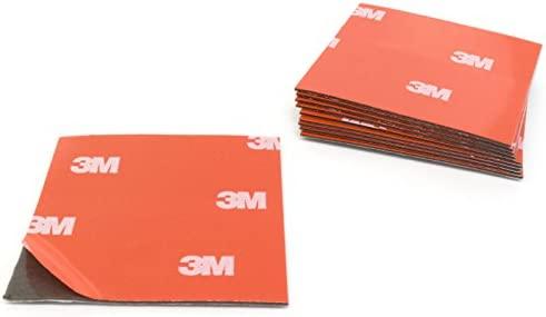 Almohadillas adhesivas 3M 4229P de espuma acrílica, de doble cara, 50 x 50 mm, 10 unidades, fijación sin agujeros