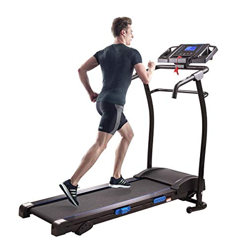 Thegreatshopman Folding Treadmill Electric Motorized Running Jogging Machine w/ 9 MPH Max Speed Cup Holder&LCD Screen