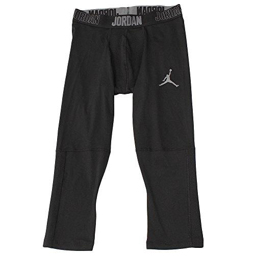 [해외]나이키 조던 드라이 23 알파 34 남성용 트레이닝 타이츠 / Jordan Dry 23 Alpha 34 Men`s Training Tights (BlackDark Grey, Large)