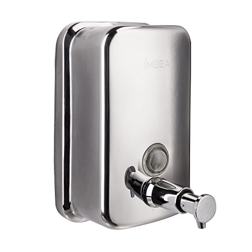 IMEEA 18/10 Stainless Steel Manual Wall-Mount Soap Dispenser (18oz/500ml)