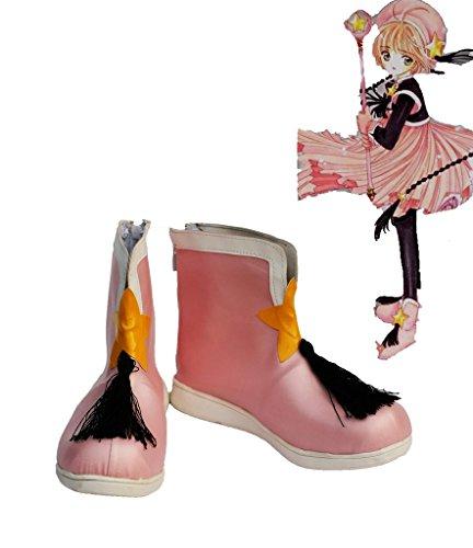 Sakura Kinomoto Cosplay Zapatos Botas Por Encargo Rosa 2
