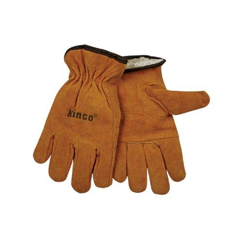 (Kinco 51pl-xl Lined Split Cowhide Leather Driver Gloves, X-large)