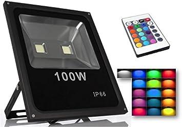 FOCO Proyector LED RGB 100W con Mando Remoto- Exclusivo ...