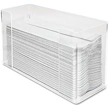Kantek Acrylic Paper Towel Dispenser, 11.5-Inch Wide x 4.2-Inch Deep x 6.75-Inch High, Clear (AH190)