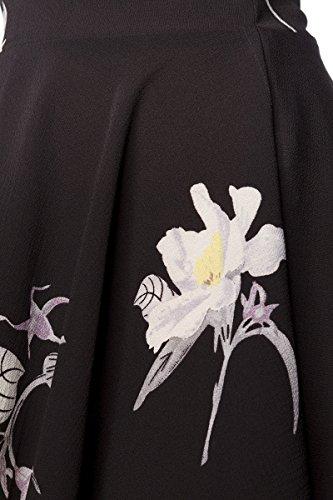 Básico Y Blanco Unbekannt Amarillo Mujer Negro Vestido Mangas Para Hálter Cuello Sin RqqtAwxvf